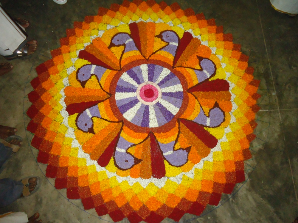 Happy Onam Pookalam Designs Images 2016