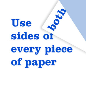 less use of paper
