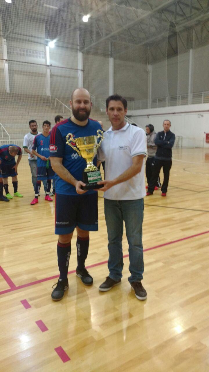 130cd6f322 Superintendente TITA de alma lavada por ter terminado o Municipal de Futsal  em grande estilo e com um grande público no Centro de Eventos.