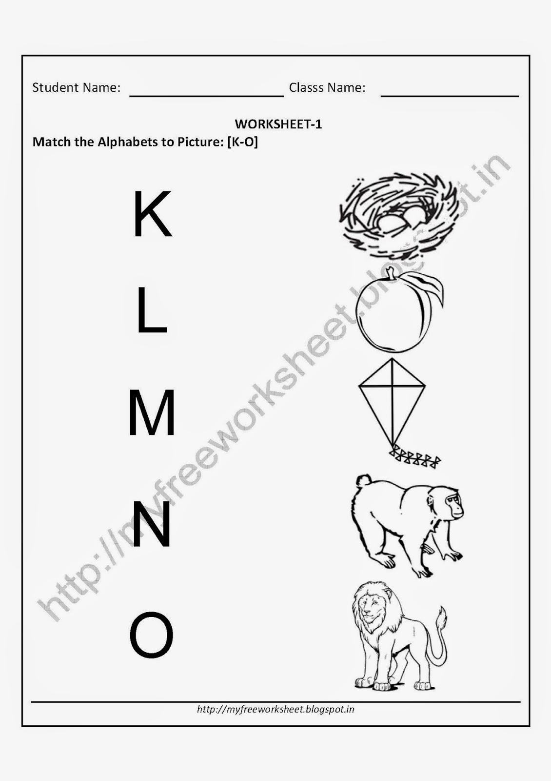 My Free Worksheet Printable Worksheets For Nursery