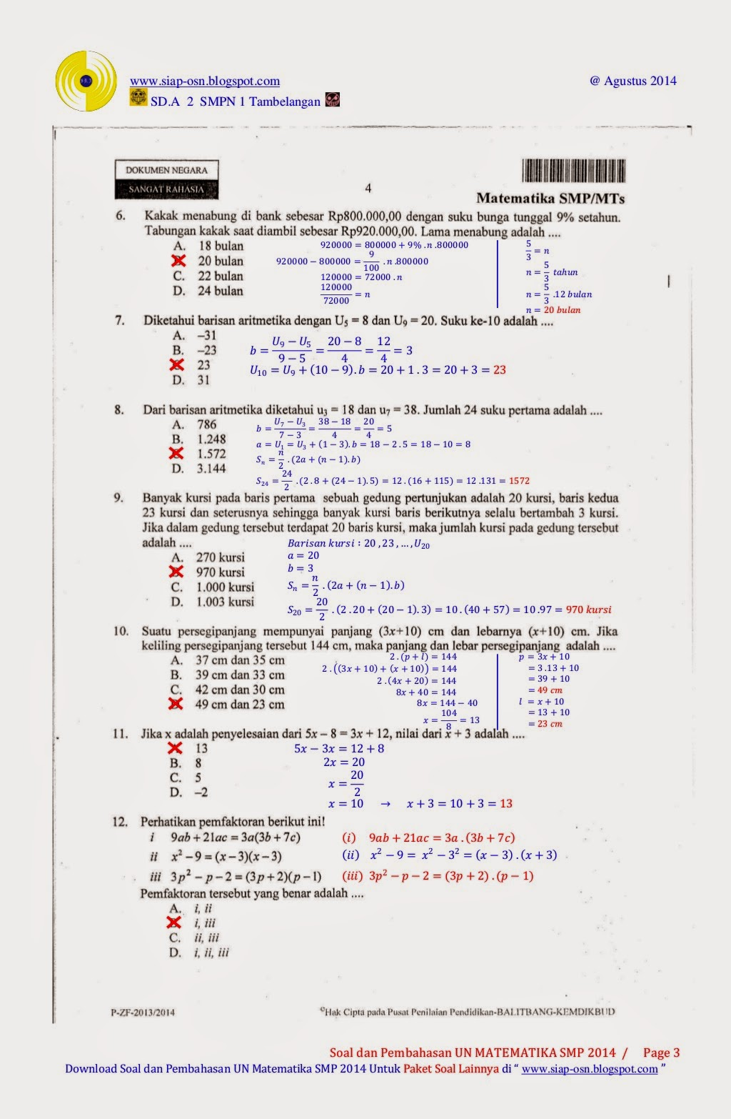 Contoh Soal Matematika Di Korea Selatan Mata Pelajaran