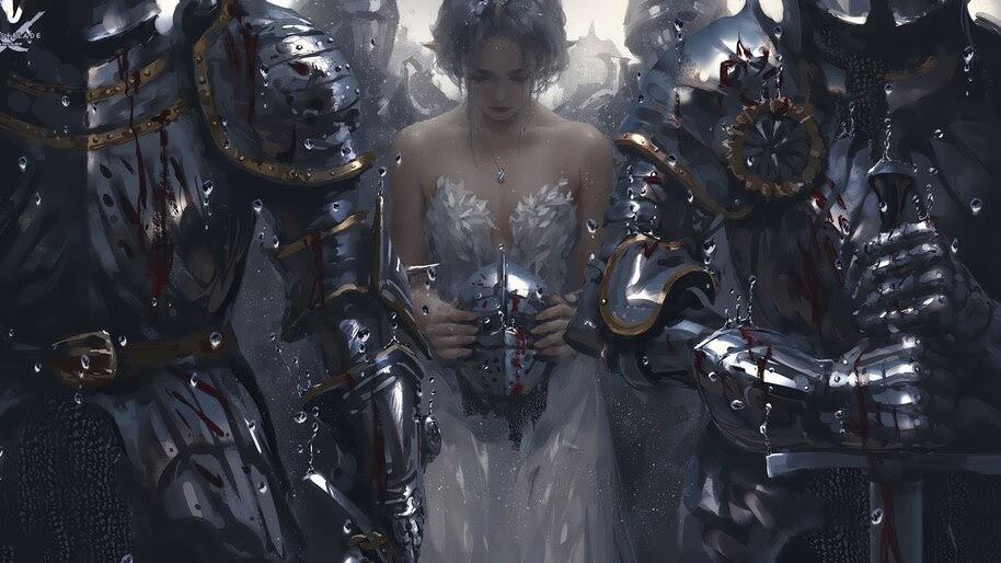 Fantasy, Girl, Princess, Art, Knights, Warrior, 4K, #4.2402
