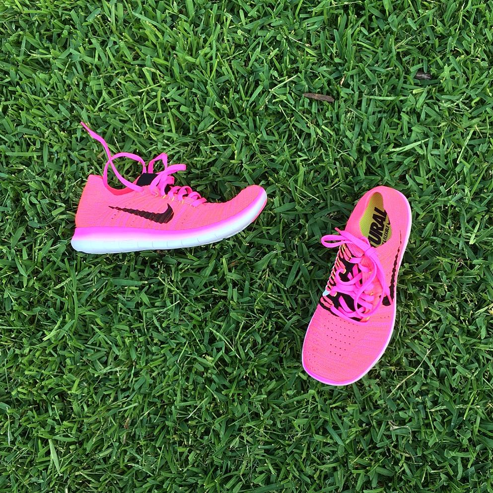 neon pink nikes