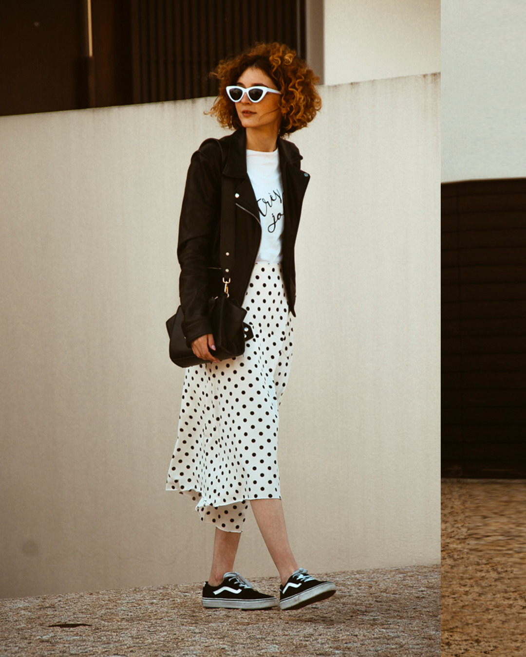 Outfit | Black and white with polkadots