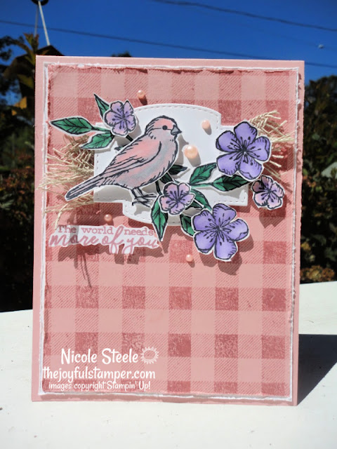free as a bird card sketch stamping challenges stampin' up! handmade cards thinking of you nicole steele stampin' up! independent demonstrator the joyful stamper