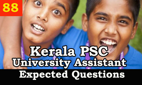 Model Questions for University Assistant Exam 2019