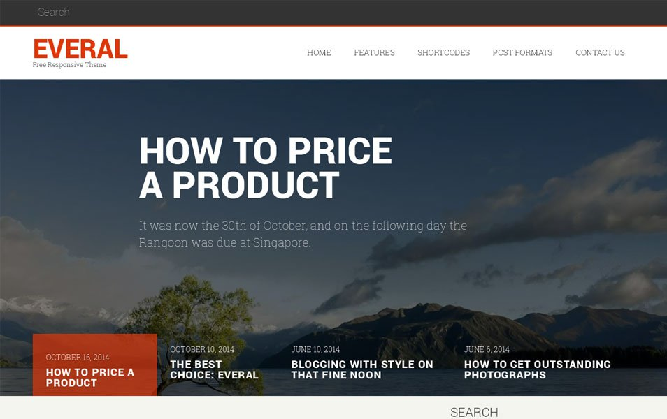 Everal Responsive WordPress Theme