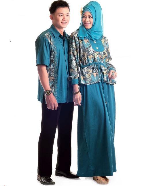 Fashion Tren Model Baju Gamis Batik Kombinasi Sifon
