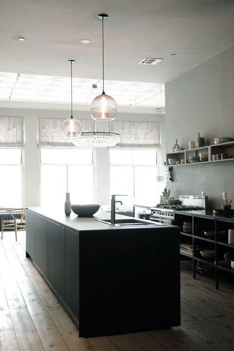 Modern Pendant Lighting For Kitchen Island: The Modern Sophisticate: Matte Black