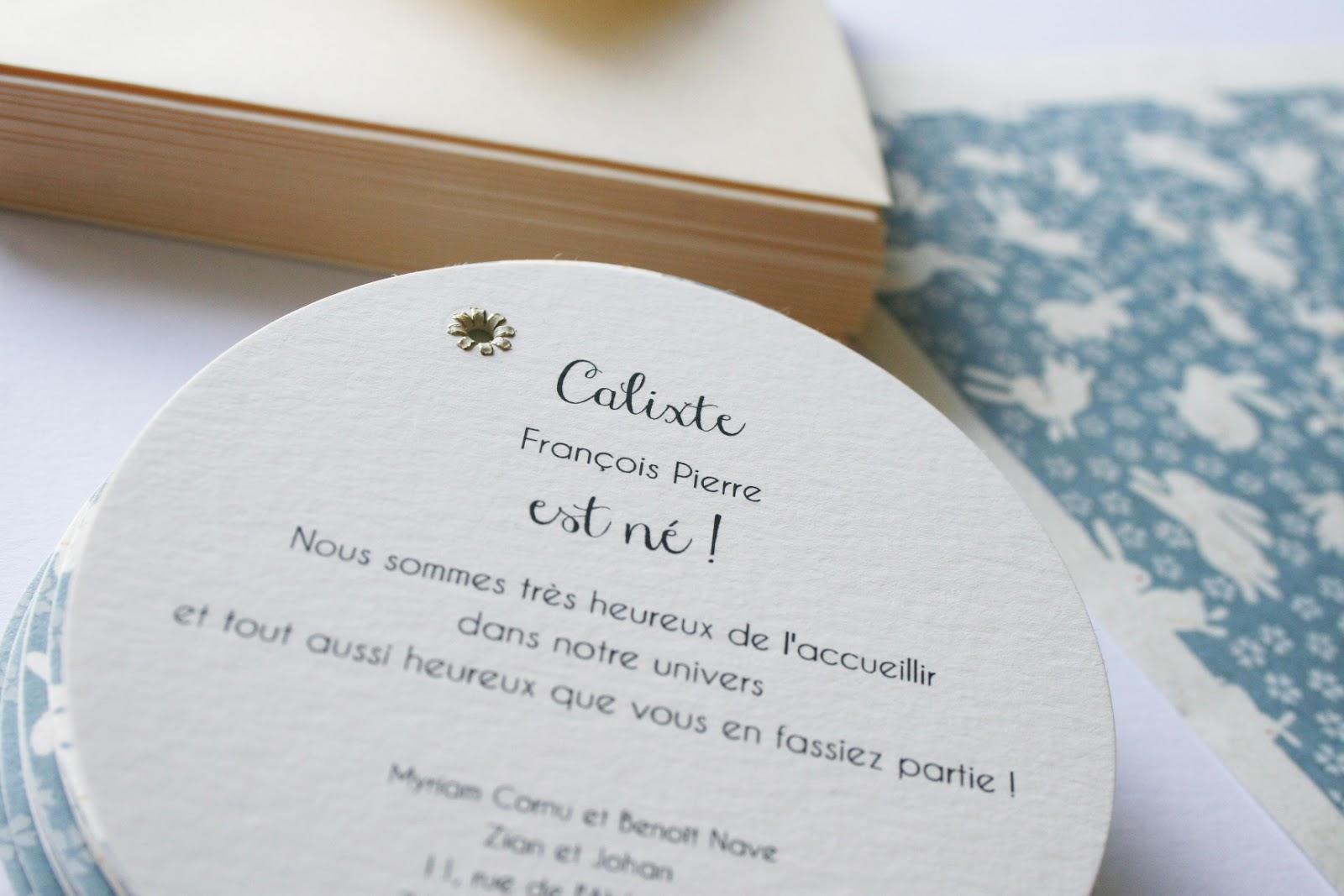 Bien connu Fleur de pommier dans son atelier: Faire-part de naissance  UC94