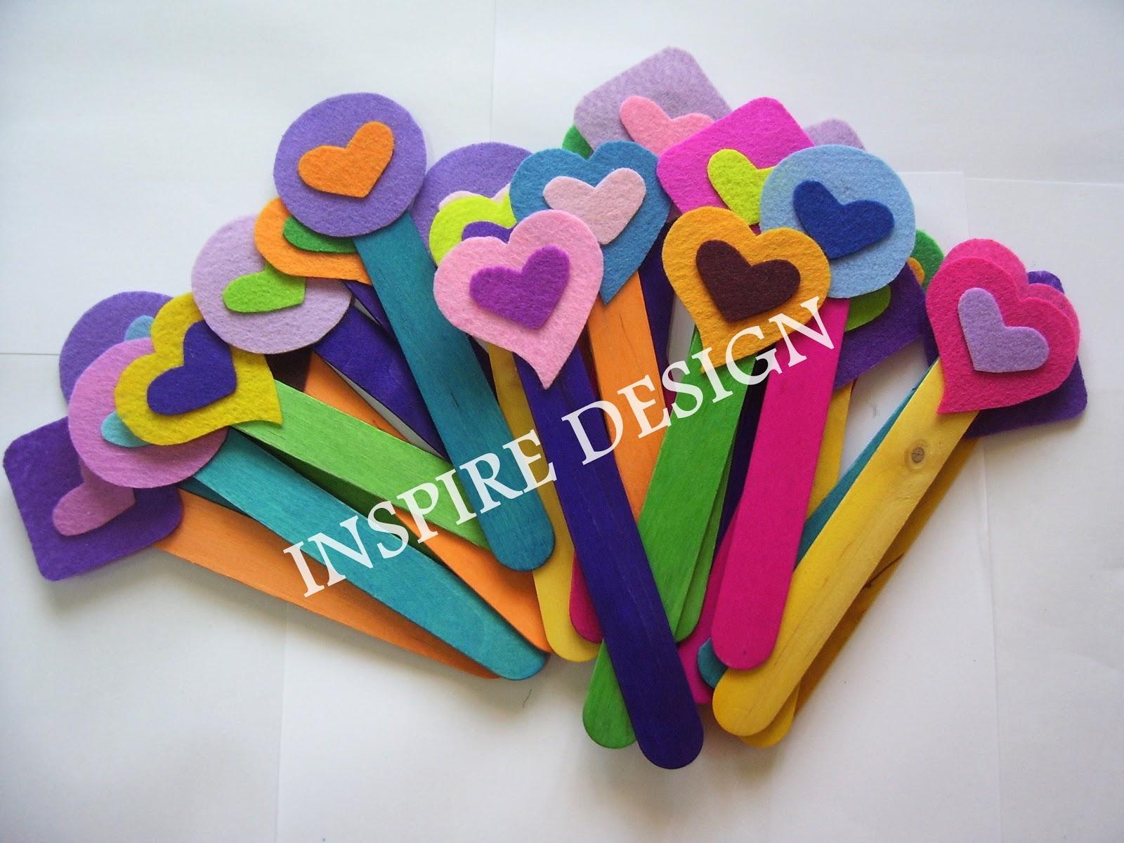 Yang Ni Pun Simple Tapi Batang Aiskrim Warna Warni Colorful