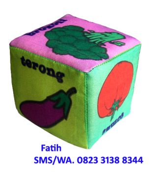 Mainan Dari Kain Untuk Anak Dadu Sayuran