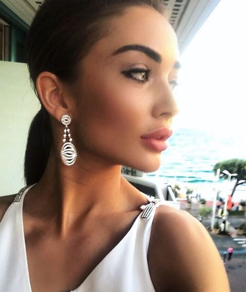 Cannes Film Festival 2017 - Amy Jackson Vision In White Versace