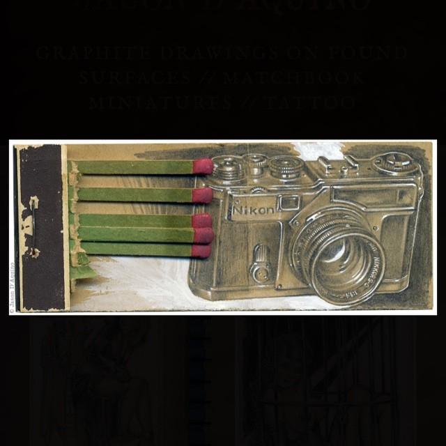 14-Nikon-Photo-Camera-Jason-D-Aquino-Miniature-Vintage-Match-Book-Drawings-www-designstack-co