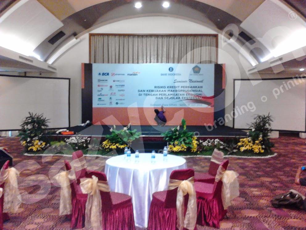 Jasa pemasangan backdrop event dan seminar graha sinarmas jakarta