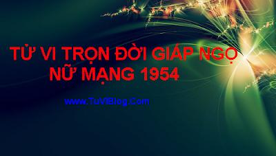 TU VI GIAP NGO 1954