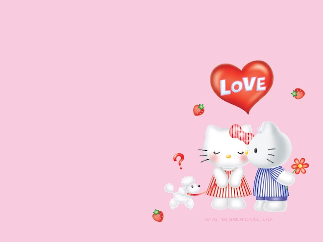 Tarjetas de Helllo Kitty para San Valentín, para imprimir Gratis ...