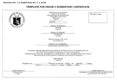 Grade 6 Elementary Certificate