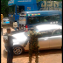 PICTURES/VIDEO: Soldier At Lagos-Ore Breaks Side Mirror of Those Violating Vehicles