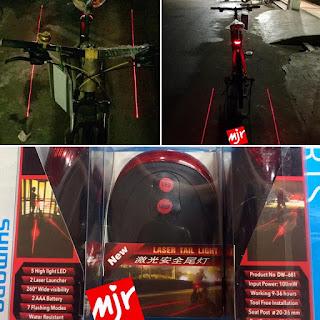 Lampu Belakang Sepeda Laser Tail Light