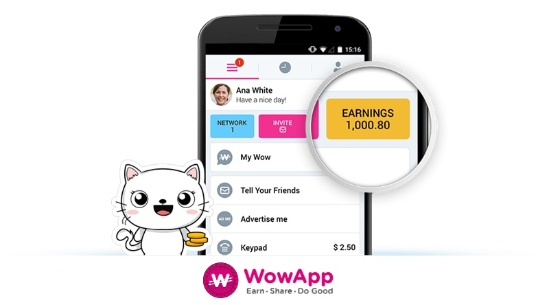 WowApp Messenger Earn Money Online Doing Instant Chat and Do good