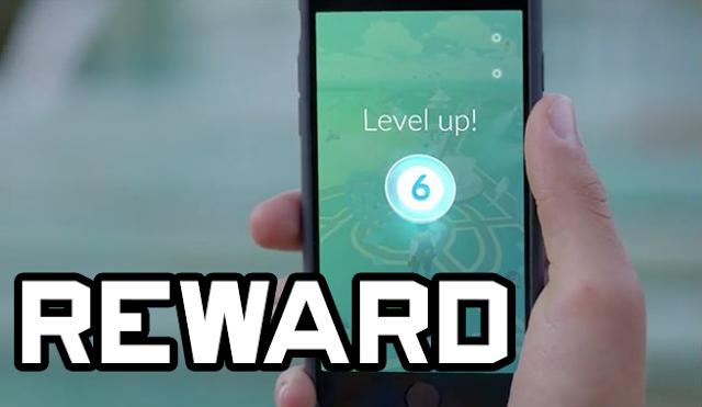 29 Kali hadiah Yang Akan kamu terima Setiap naik Level Pokémon GO