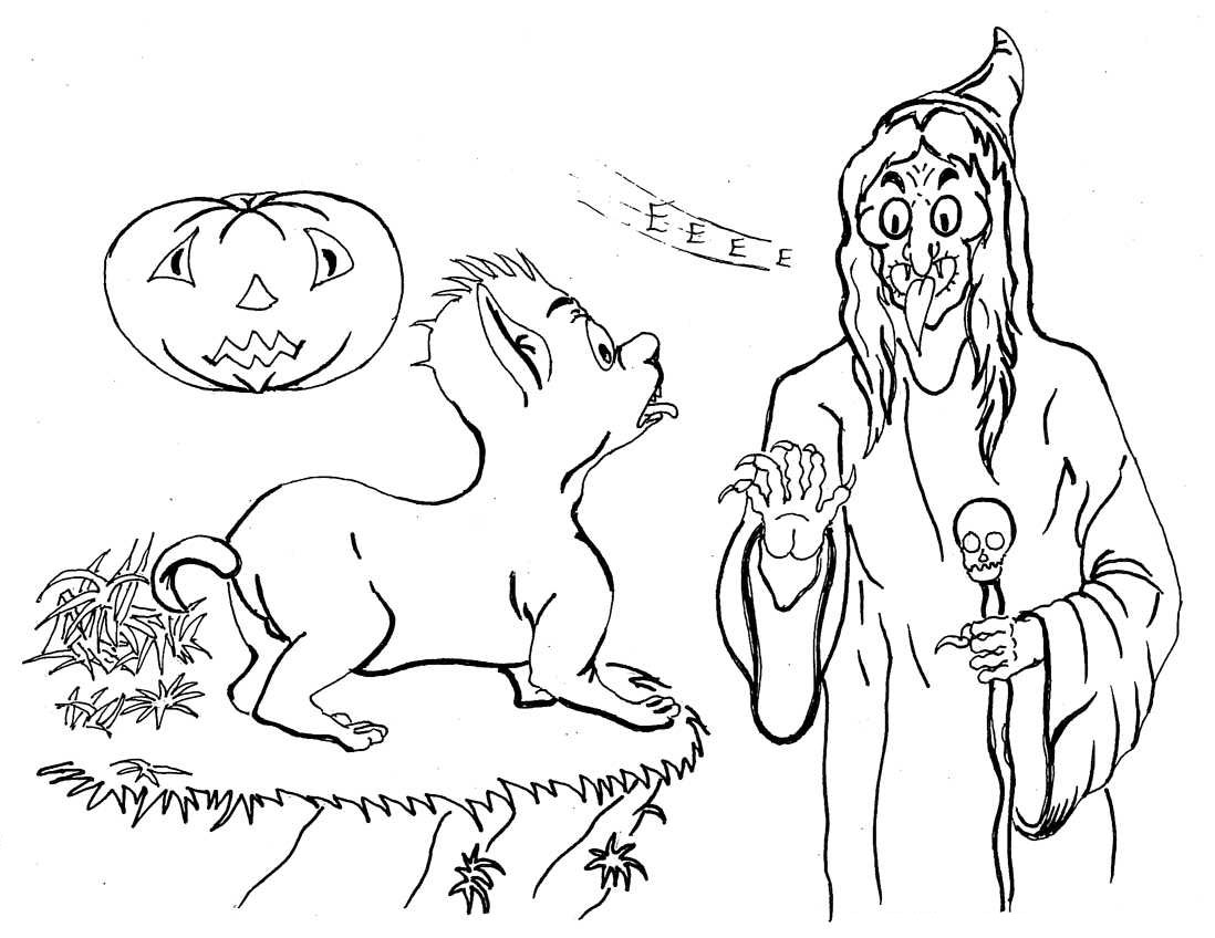 Evil Cheshire Cat Coloring Pages