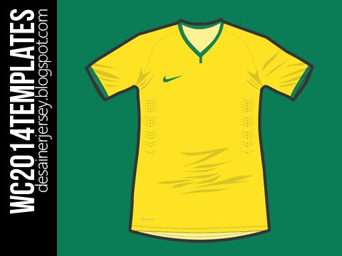 6f55af0d4 The newly revamped teamwear with exclusive use for Brazillian National Team.  The original template without the use of T-bar performance tape on the  shoulder ...