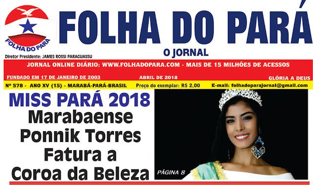 VEJA A NOVA EDIÇÃO DO JORNAL FOLHA DO PARÁ - CONFIRA AS PÁGINAS