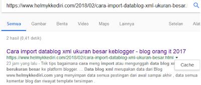 Mengenal pentingnya google cached dalam seo