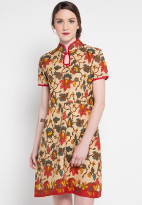 Dress batik pekalongan untuk wanita