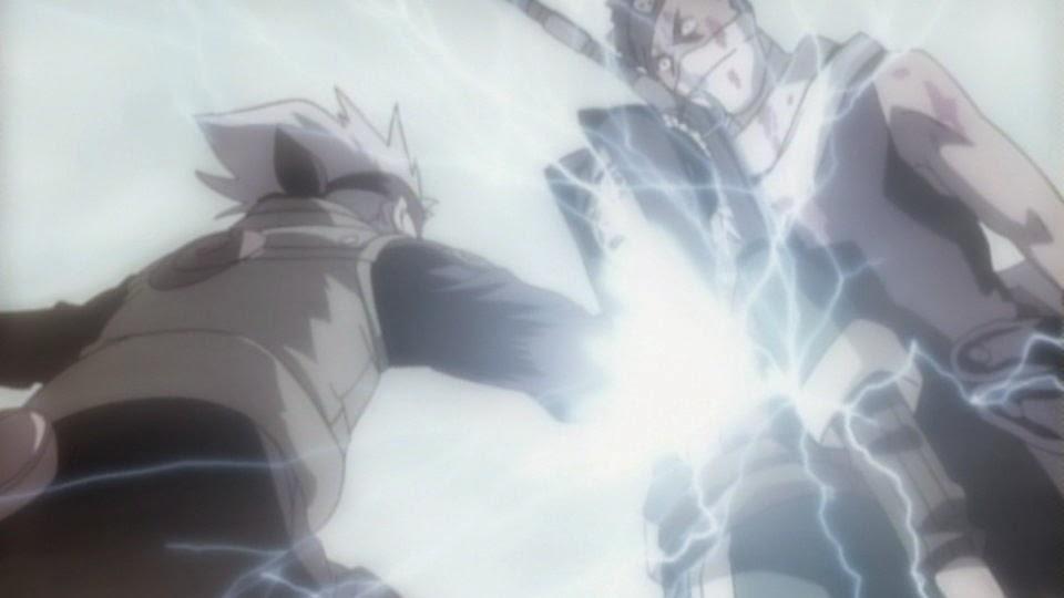 Haku se sacrifica para salvar a Zabuza