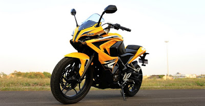 Bajaj Pulsar RS 200 Yellow HD Images