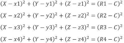 mathematics of the GPS point distances