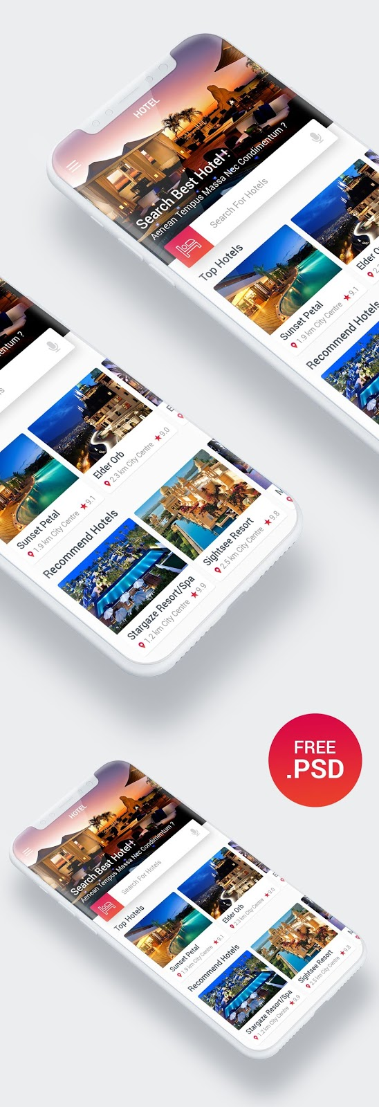 Hotel Search App UI Design For Inspiration
