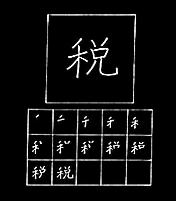 kanji pajak