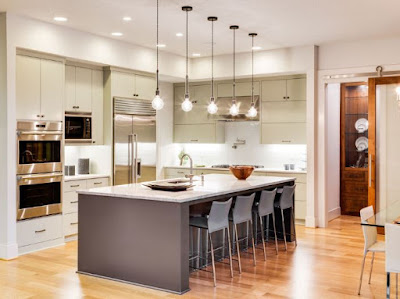The Kitchen Company, Kitchen Renovation In the one-wall kitchen remodel, all major work zones of the kitchen are arrayed along one wall