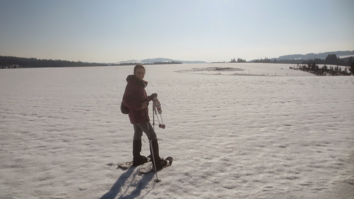 Schneeschuhwandern im Frankenwald