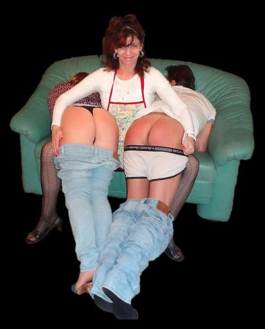 Spanked together