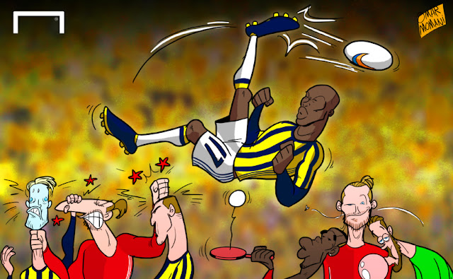 Moussa Sow cartoon