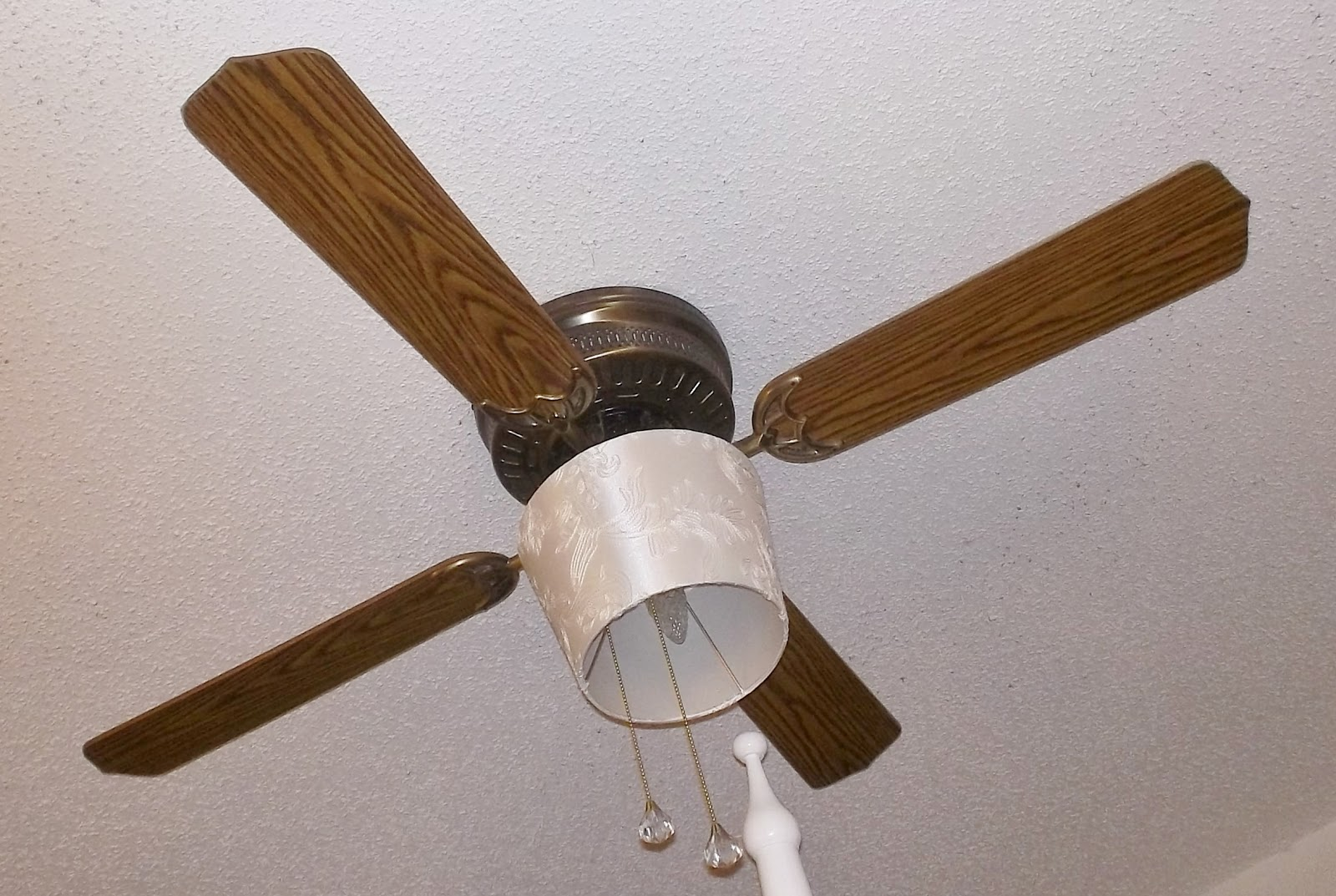 Pretty White Ceiling Fans: Little, Bitty Damn Houze!: Drum Shade For Ceiling Fan