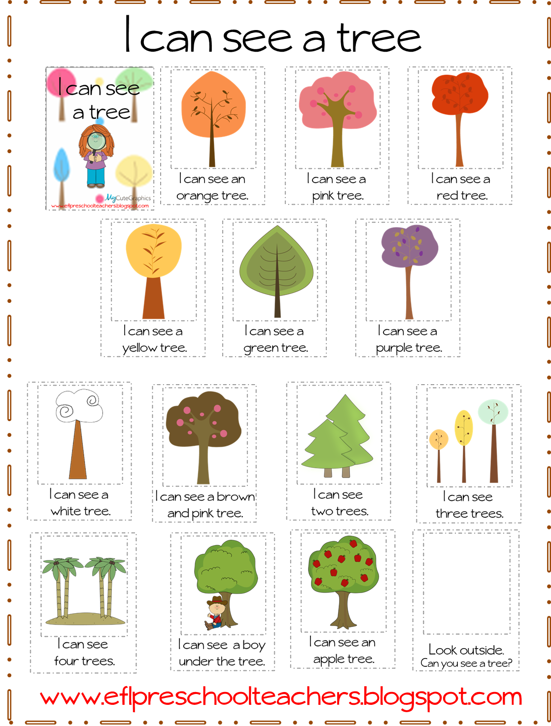 Esl Efl Preschool Teachers Trees