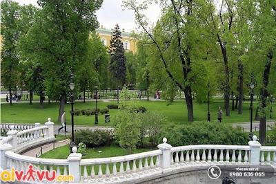 Một góc của khu vườn Alexander.