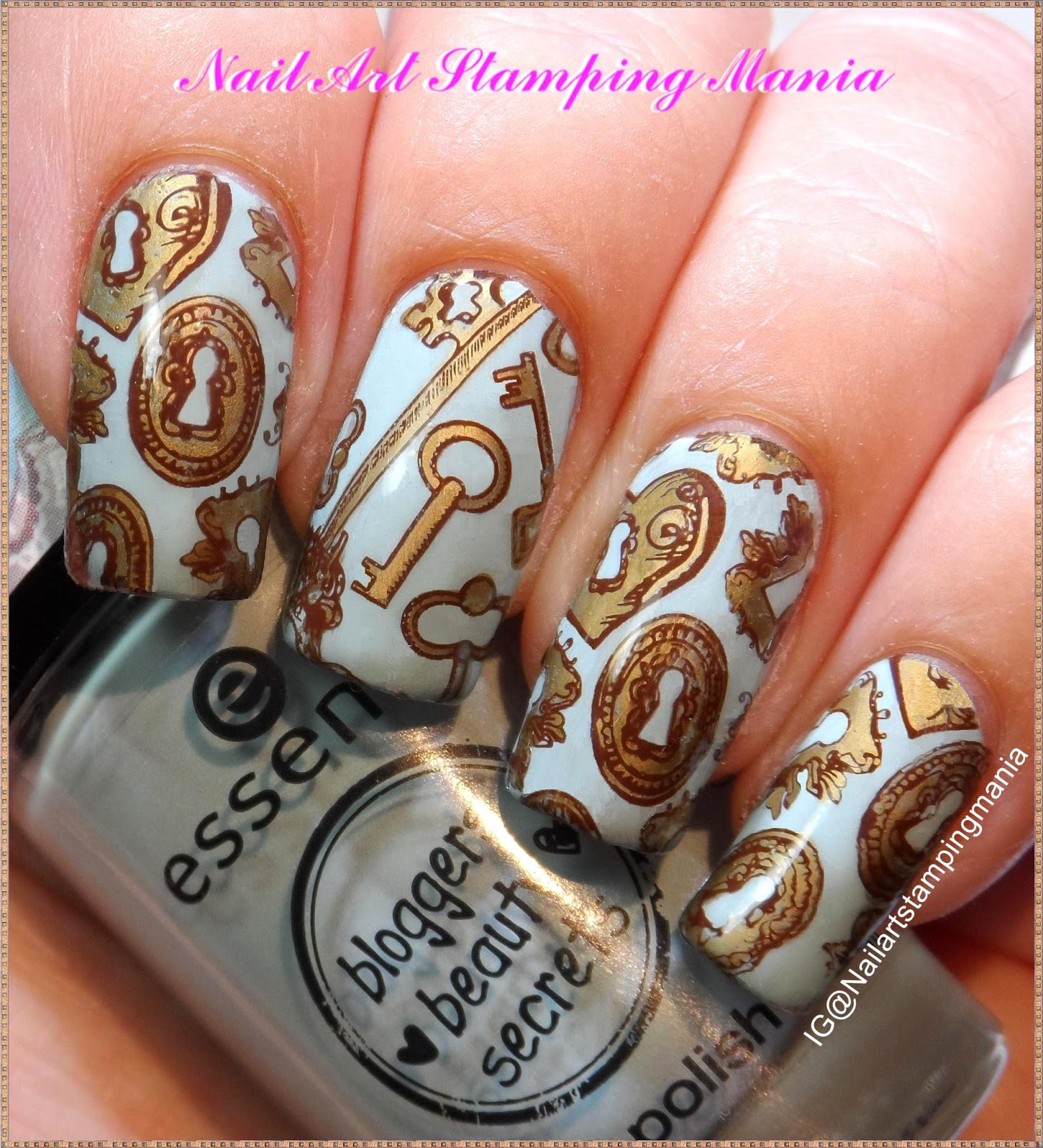 Nail Art Stamping Mania: Keys Manicure with Creative Shop plate ...