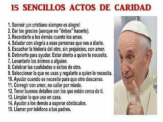 papa Francisco Caridad 15