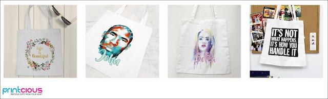 Tote Bag dengan cetakan sendiri