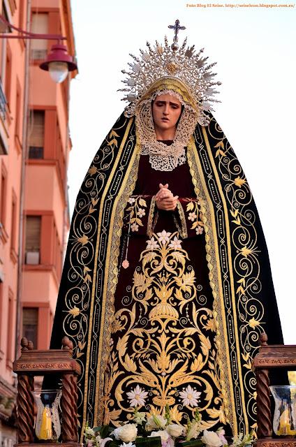 Maria Santisima de la Misericordia. Cofradia de las Bienaventuranzas. Leon. Foto. G Marquez. 2015