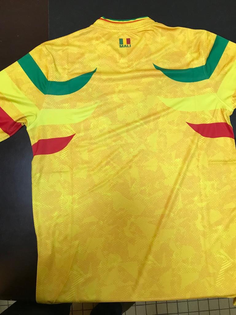 """91f1e450679 Inside the neckline is of the Mali 2019 home and away jerseys is lettering  that reads """"Un Peuple, Un But, Une Foi"""" - tranlated that means """"A People, A  Goal, ..."""