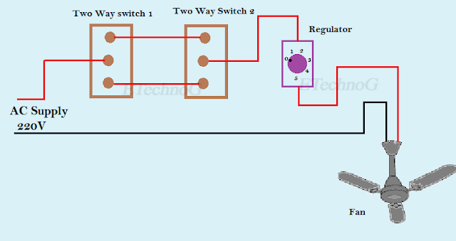 Fan Regulator Connection, connection diagram of fan regulator
