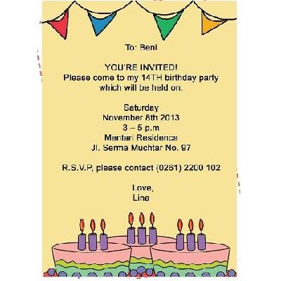 Contoh Undangan Ulang Tahun Dicle Sticken Co